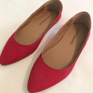NEW Lucky Brand Red Bylando Flats (6.5)